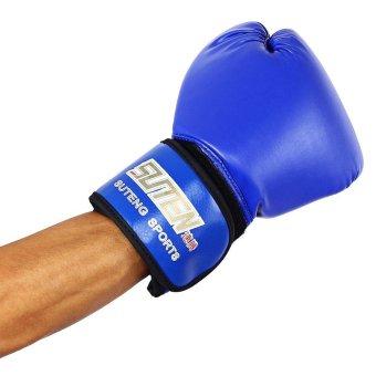 Detail Gambar SUTEN 1 pasang PU pelatihan sarung tangan tinju Kick Boxing berjuang memaksakan untuk pejuang
