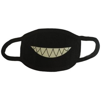 Harga Men and women Boys and Girls Cotton Teeth Luminous Anti-Dust Mouth face Mask Anime Halloween Gift Cosplay - intl