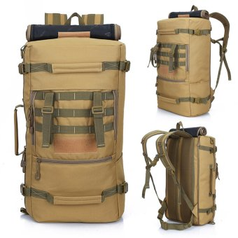Harga Outdoor Waterproof backpack Khaki