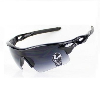 Harga Bikers Kacamata Sport Outdoor Cycling Sepeda Motor Bicycle Bike Goggles Biker Touring UV400 Sunglasses - Hitam