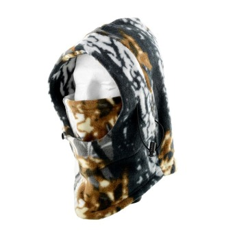 Harga OEM Camo Balaclava Hat Polar Fleece Cap Hunting Snow Neck Warmer Facemask Full Face