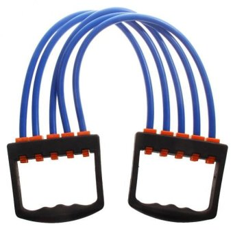 Harga MagiDeal Portable Indoor Sport Supply Chest Expander Puller Fitness Resistance Band B - intl