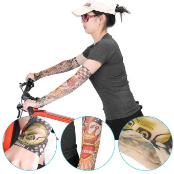 ... 1Pair Set Outdoor Protection Temporary Tattoo Arm Sleeves Cuff Mermaid intl 3