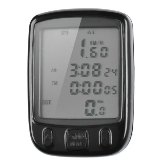 Harga 2 LCD Electronic Bicycle Computer Speedometer