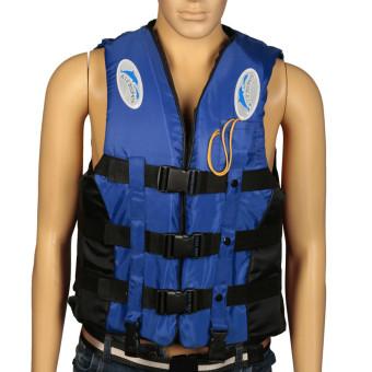... Jaket Rompi Renang Untuk Dewasa Hidup Busa Peluit Pencegahan Banjir XL Biru - 3 ...