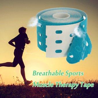 5 cm x 5 m tahan air sejuk pita otot elastis kinesiologi olahraga pusat regangan Pian