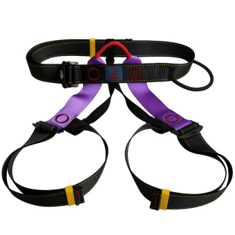 Harga MagiDeal Outdoor Rock Climbing Rappelling Harness Seat Safety Sitting Belt - Purple - intl