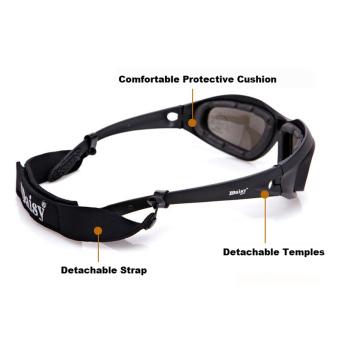 Desi C5 kacamata terpolarisasi tentara badai gurun 4 lensa olahraga berburu kacamata militer .