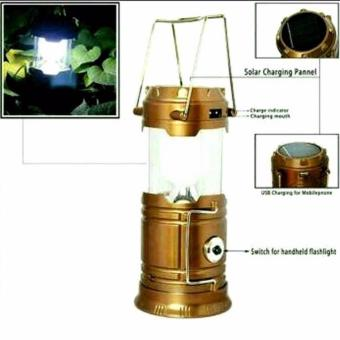 Harga Lampu Emergency Lentera Solar - Emergency Camping Lamp Power Bank - Gold