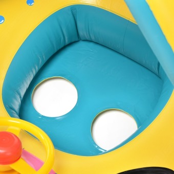 ... 1PCS Inflatable Toddler Baby Swim Ring Float Seat Swimming Pool Water Seat with Anti UV