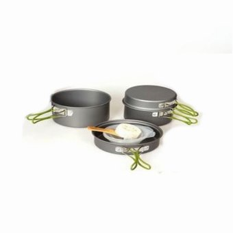 Harga DSC - Cooking Set DS 301 Camping Hiking Out Door - Hitam