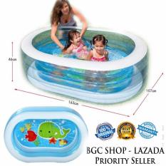 Intex 57482 Oval Whale Fun Swiming Pool / Kolam Renang anak Transparan