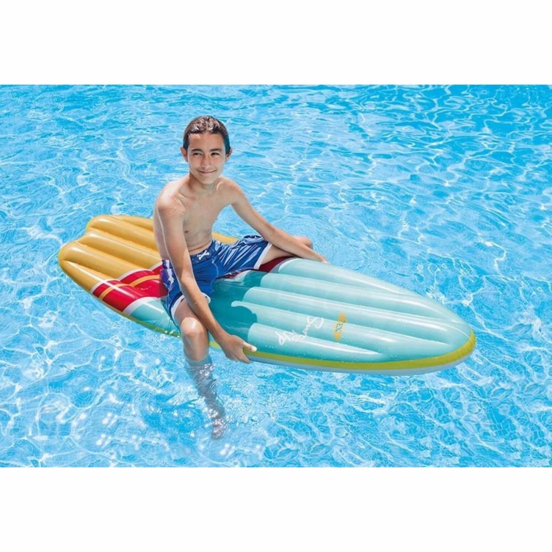 Pelacakan Harga Intex Surfboard Surf Up Mat Pool 2 Motif Papan Pelampung Anak Seluncur Pompa 58152