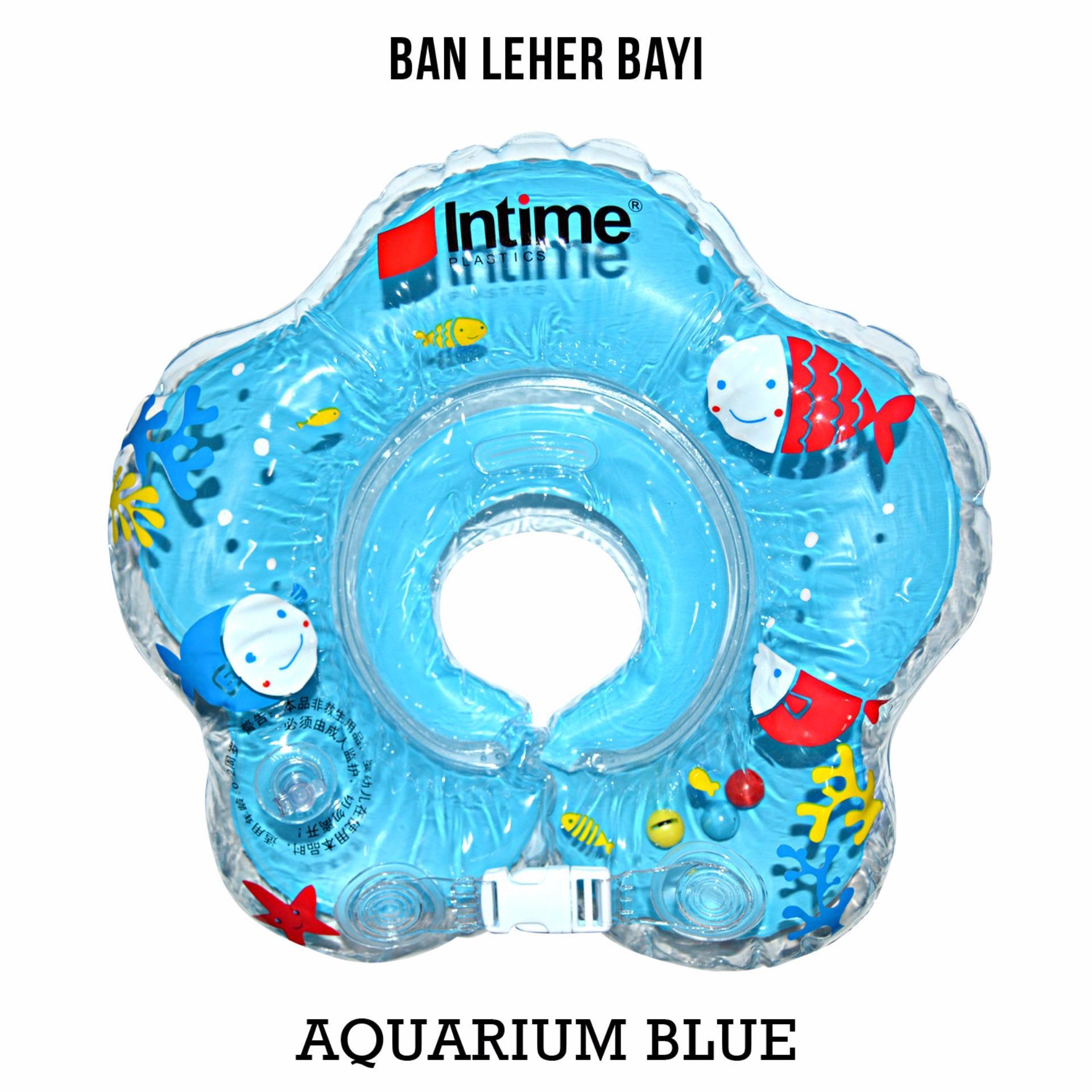 Intime Neckring - Neck Ring Pelampung Ban Leher Bayi - Motif Blue Aquarium