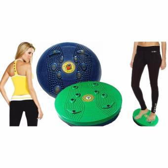 JBS Jogging Body Plate - Piringan Jogging Badan Magnetic Trimmer  1Pcs + Free Ikat Rambut Polkadope - 1 Pcs