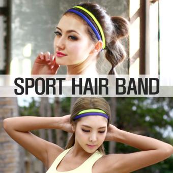 HARGA Kebugaran olahraga berjalan yoga karet rambut headband TERPOPULER