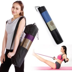 Kenyamanan Portable Yoga Mat casing nilon Pilates latihan Carrier Mesh Pusat