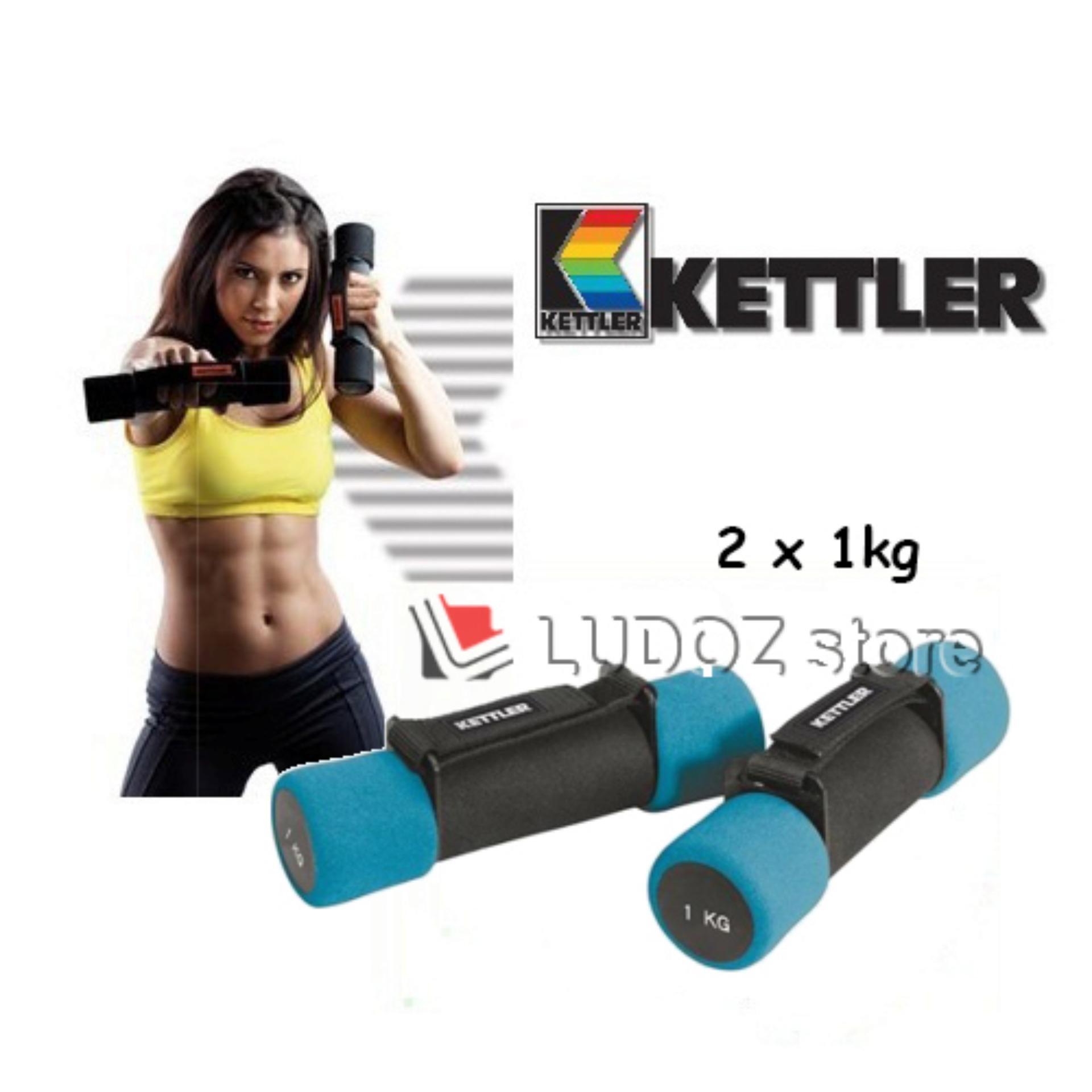 KETTLER Aerobic soft Dumbbell - 2kg/pair (2x 1.0kg) Fitness senam Aerobic