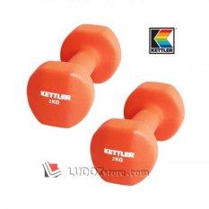 KETTLER Neoprene DUMBBELL 4kg/pair ( 2x 2kg ) Dumbell Senam Aerobic dan Fitness -0802