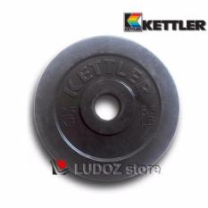 KETTLER Plat Beban RUBBER dumbell 2.5kg kepingan barbell pemberat Hi-Quality Rubberized plate