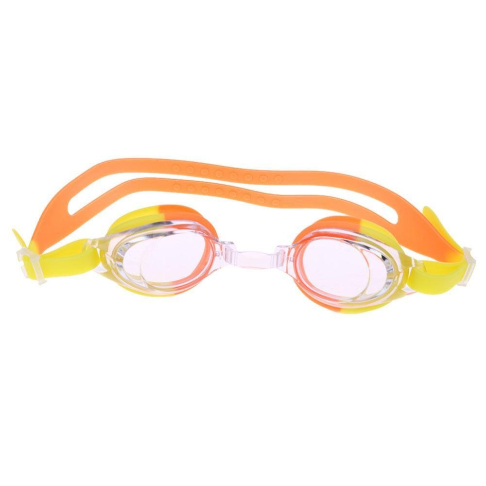 ... Kids Anti-fog Silicone Swimming Goggles Glasses with Case+Ear Plugs(Orange) ...