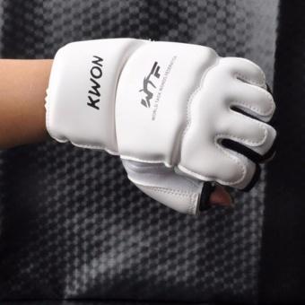 Kids Children half finger Boxing Gloves Mitts Sanda Karate SandbagTaekwondo Protector Age 3-12 - intl - 5