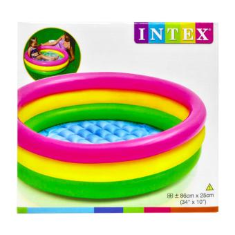 Kolam renang Anak Pelangi Sunset Glow Baby Pool 3 Ring 86cmx25cm INTEX 58924