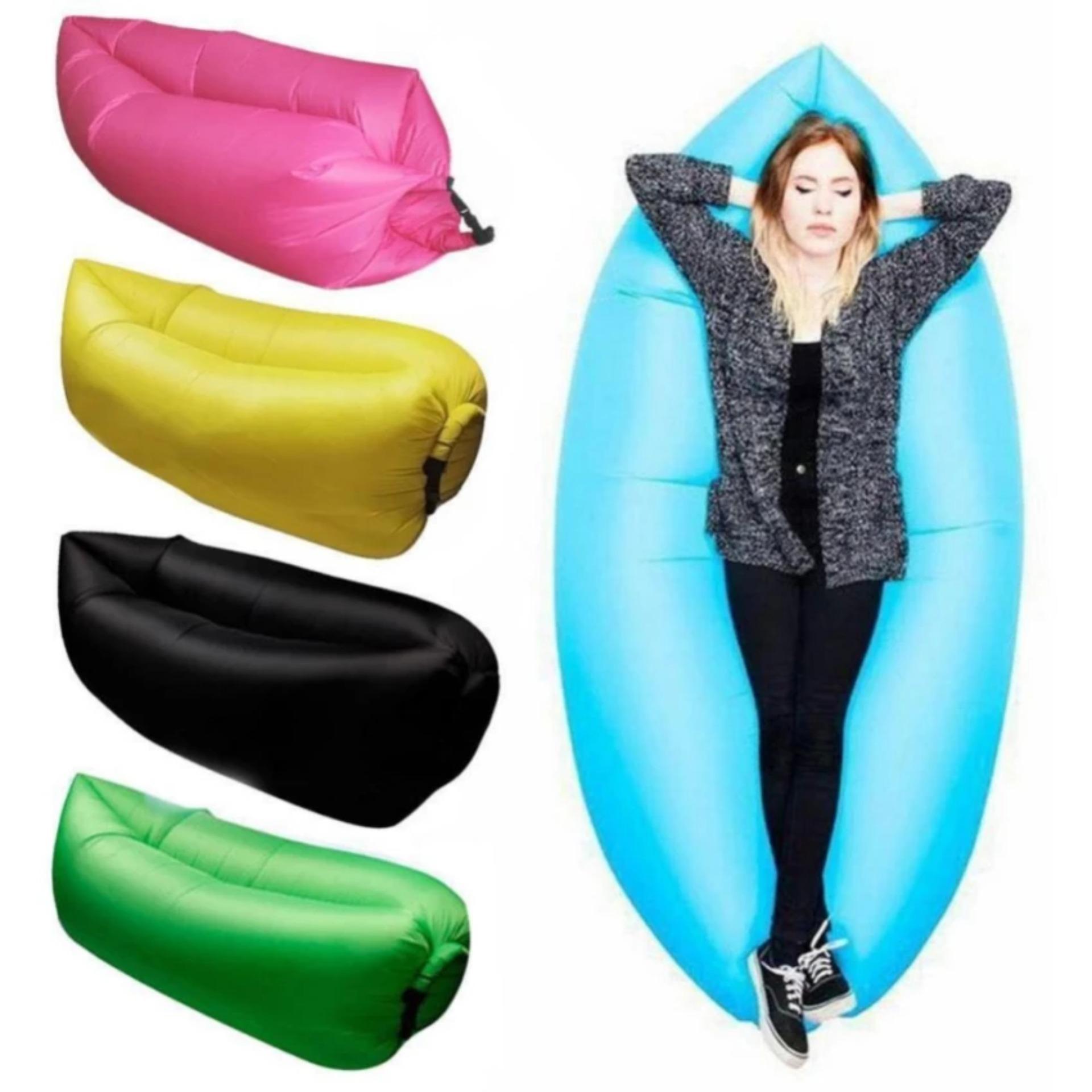 Terbaik Murah Lazy Bag Lazybag Air Bed Sleeping Kasur Angin