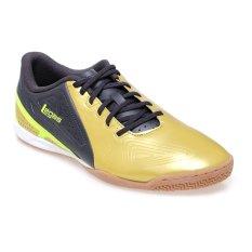 League Legas Series Defcon IC LA Sepatu Futsal - Rich Gold/Nine Iron/Volt