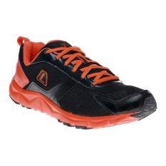 League Ventura M Sepatu Lari - Hitam-Total Orange-Putih