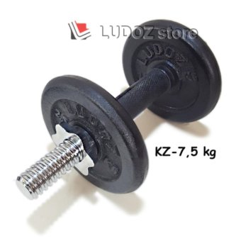 LUDOZ Dumbbell set KZ-7.5kg Stick dumbell KETTLER Rubberized dgPlat Beban Barbell Hi-Quality