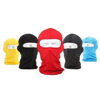 Lycra Fabrics Ski Face Mask Motorcycle Cycling Bike BandanaDust-proof Balaclava - Blue - intl