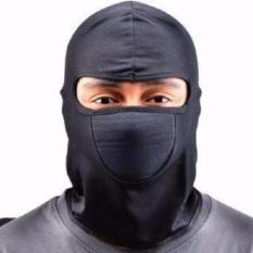 Masker Motor Ninja Full Face Anti Debu Dan Polusi Pelindung Rambut - Hitam