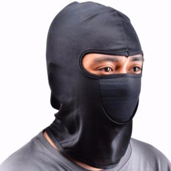 Masker Motor Ninja Full Face Anti Debu Dan Polusi Pelindung Rambut - Hitam - 2