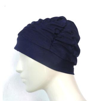 HARGA Nylon dengan rambut panjang gelembung renang topi kain topi renang topi renang TERMURAH
