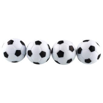 OEM New plastik 4 buah 32 mm sepak bola meja sepak bola meja bola Fussball kolam hitam + putih