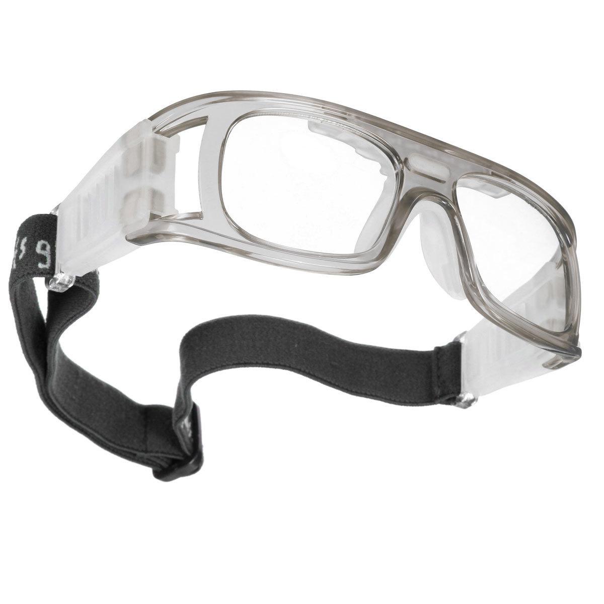 Olahraga Sepak Bola Basket Kacamata Pelindung Mata Kacamata Pengaman Pelindung Elastis Abu-