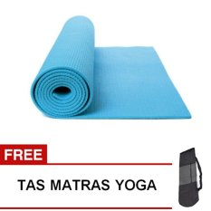 Oranyejersey Matras Yoga Mat Flexflit 6MM - Biru Muda + Tas