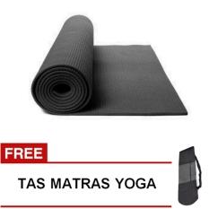 Oranyejersey Matras Yoga Mat Flexflit 6MM - Hitam + Tas