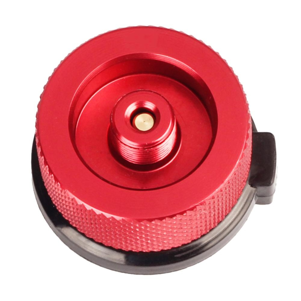 ... Outdoor Camping Picnic Stove Converter Long-Flat Gas Bottle Adapter Burner(Red) ...
