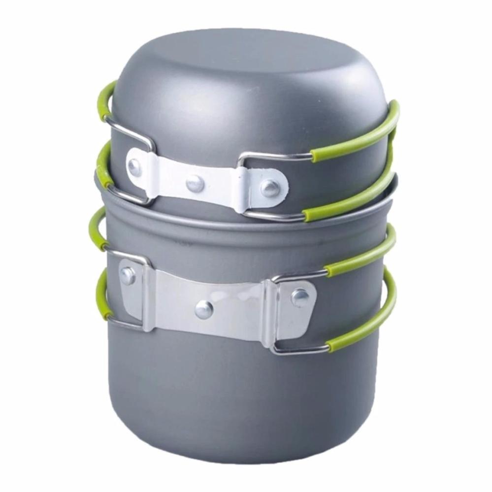 ... Outdoor Cooking Bowl Set Picnic Camping Backpacking Pot PanCookware(Grey) - intl ...