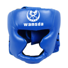 PALIGHT Kick Boxing Eadgear Helm Pelindung (biru)