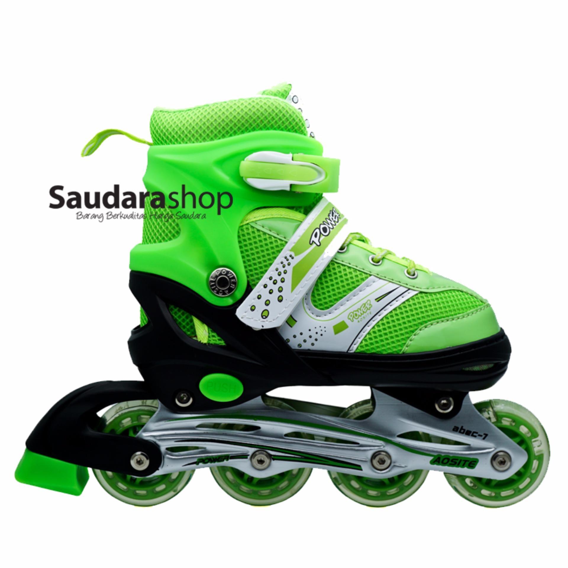 Power Sepatu Roda Inline Anak - Hijau   Sepaturoda Inline Skate Anak - Hijau f3f8f5fb5c