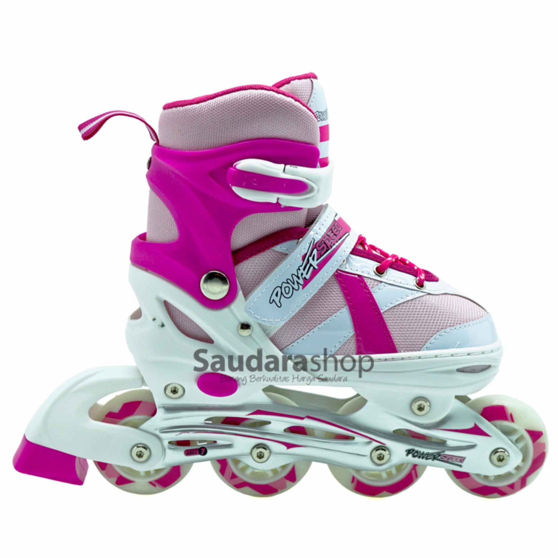 Power Speed Sepaturoda Inline Pink Sepatu Roda Inline Skate Pink ... 23abbe92dd