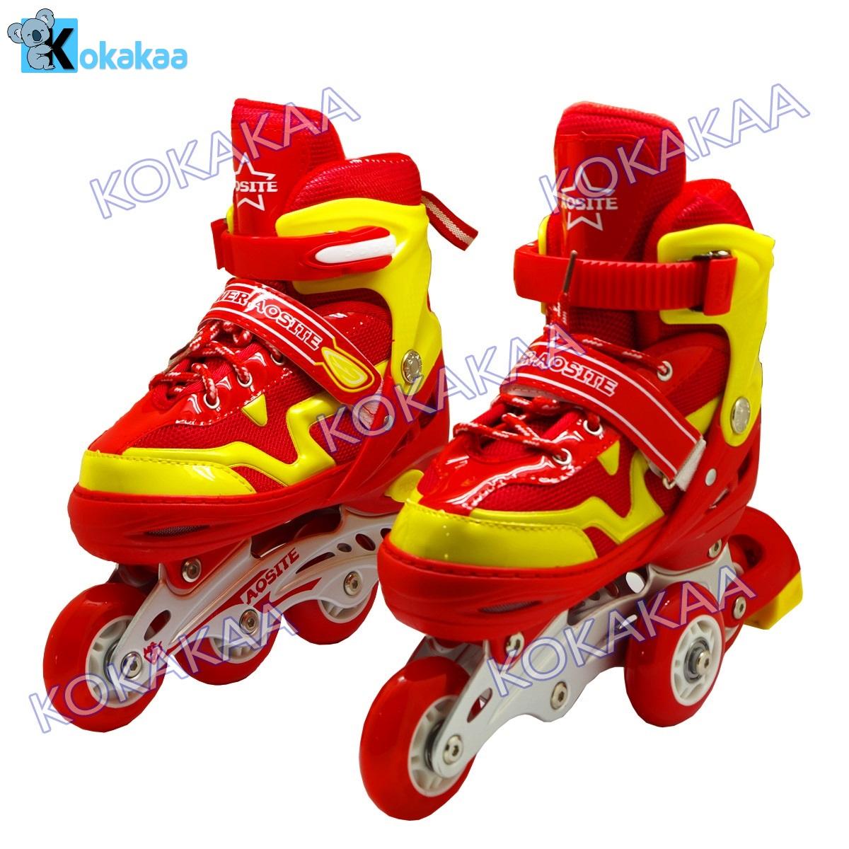 Power Sport 4000 inLine Skate Sepatu Roda 2 in 1 Adjustable Wheel - Merah d4b0ba6be0
