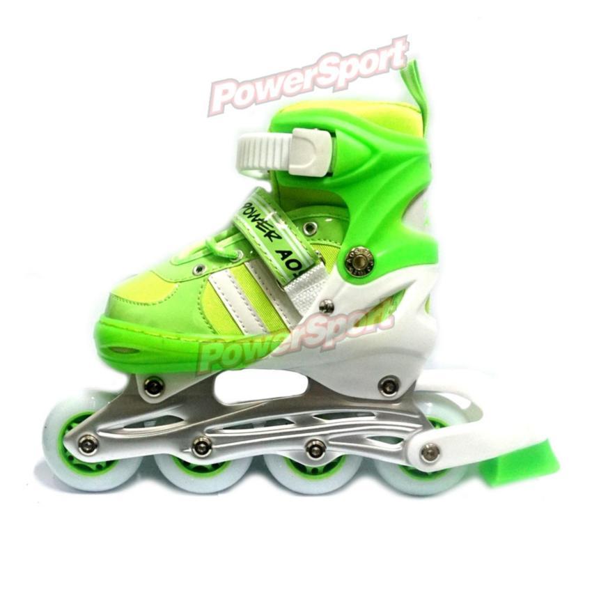 Power Sport Two-Stripes 5000 Aosite inLine Skate Sepatu Roda 2 in 1  Adjustable Wheel a9c473004a