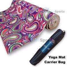 Power SportAnti-Slip Tech 6mm Yoga Mat Motif Merah-Hijau extra Carrying Bag