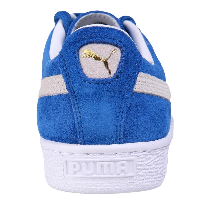 Puma Suede Classic+ Sepatu Sneakers Olahraga - Olympian Blue-White . dcd367e3b4