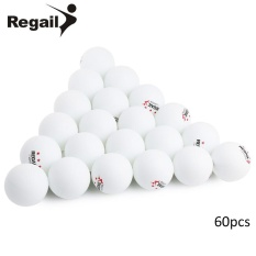 REGAIL 60 Counts 3-star Practice Table Tennis Ping Pong Ball for Advanced Training (White) - intl