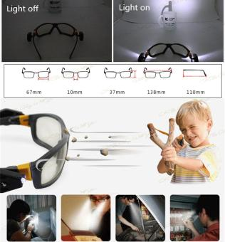 ... Riding Cycling Safety Glasses Clear Anti-fog Eye Protective Goggleswith Lights - intl - 3 ...